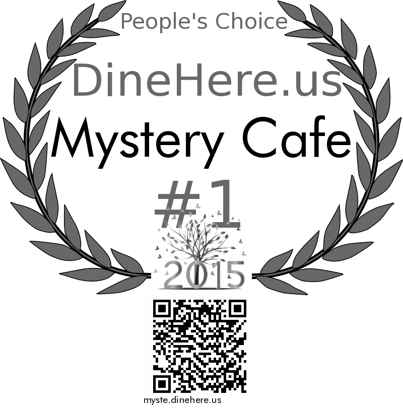 Mystery Cafe DineHere.us 2015 Award Winner